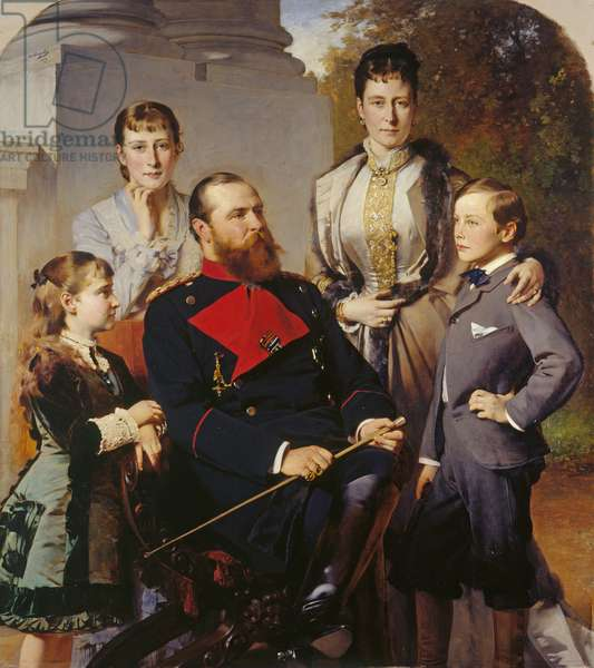 The Family of the Grand Duke of Hesse, 1879 (oil on canvas)