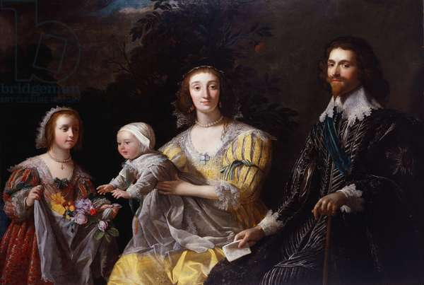 George Villiers, 1st Duke of Buckingham with his Family, c.1628 (oil on canvas)