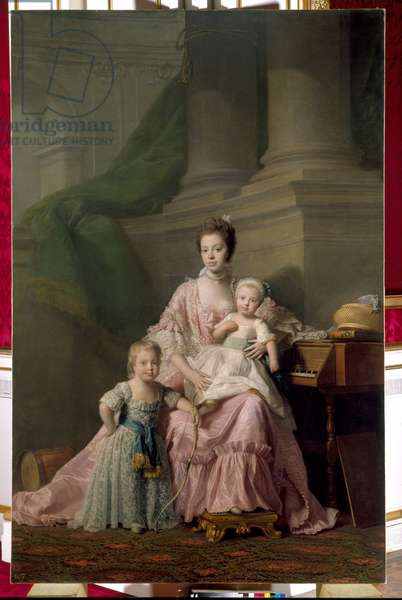 Queen Charlotte with her two Eldest Sons, c.1764-69 (oil on canvas)