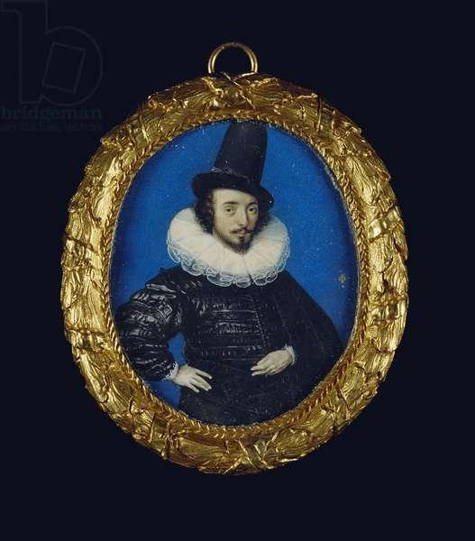Self-Portrait, c.1590 (w/c on vellum laid on card)