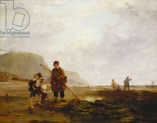 Prawn Fishers at Hastings, 1825 (oil on canvas)
