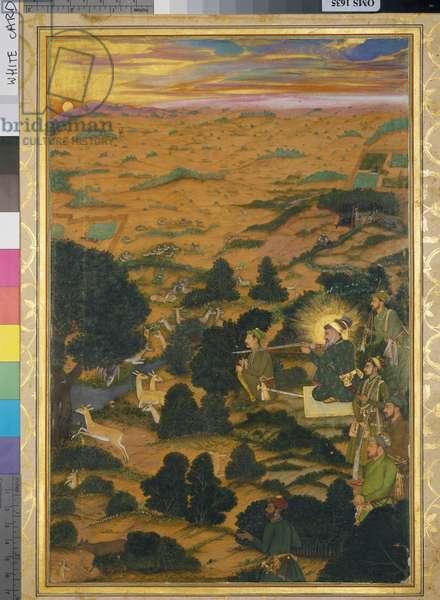 Shah-Jahan hunting, 1656-57 (manuscript)