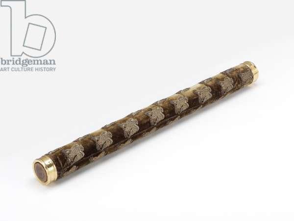 Marshal Jourdan's Baton, 1804 (wood, velvet, gold and thread)