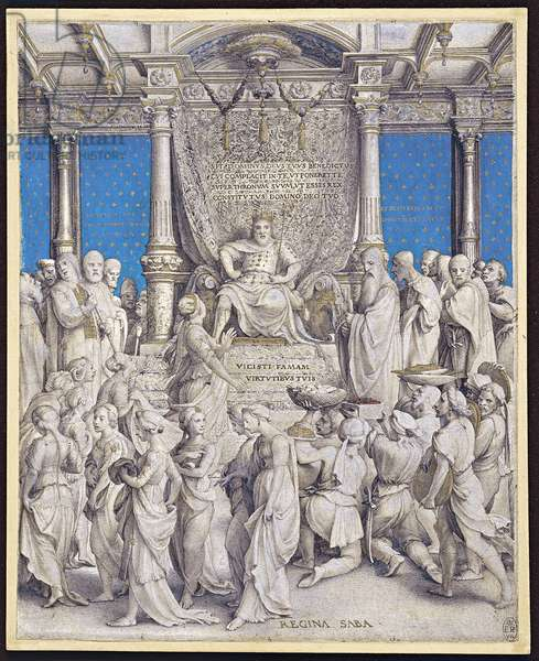 Solomon and the Queen of Sheba, c.1534 (mixed media)