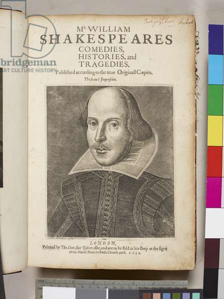 'Comedies, histories and tragedies, published according to the true originall copies by William Shakespeare', 1632 (engraving)