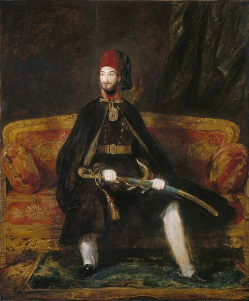 Abd-ul-Mejid (1823-1861), Sultan of Turkey, 1840 (oil on panel)