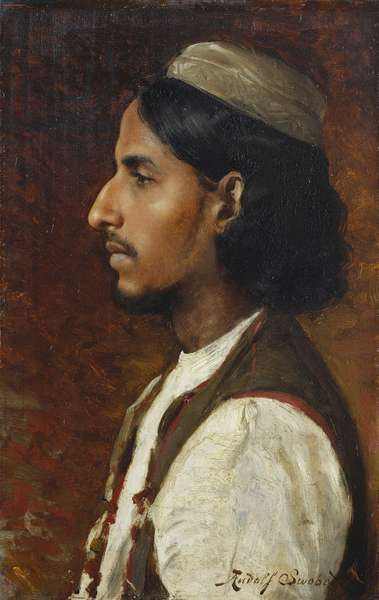 Muhammad Hussain, 1886 (oil on panel)