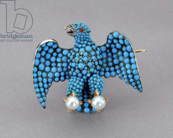 Eagle Brooch, 1839-40 (Silver, turquoise, pearls, rubies & diamonds)