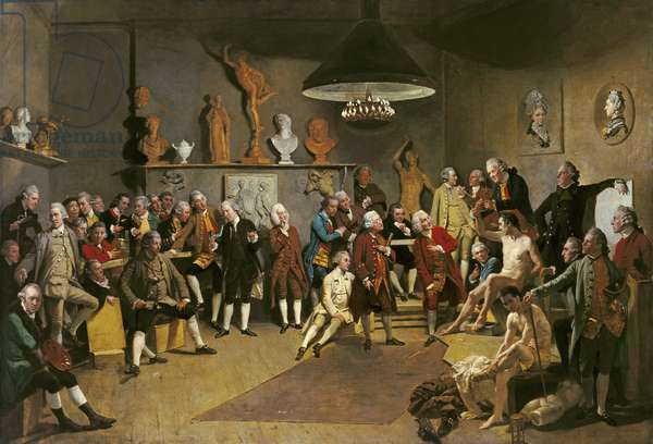 The Academicians of the Royal Academy, 1772 (oil on canvas)