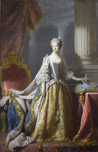 Queen Charlotte, c.1760-61 (oil on canvas)