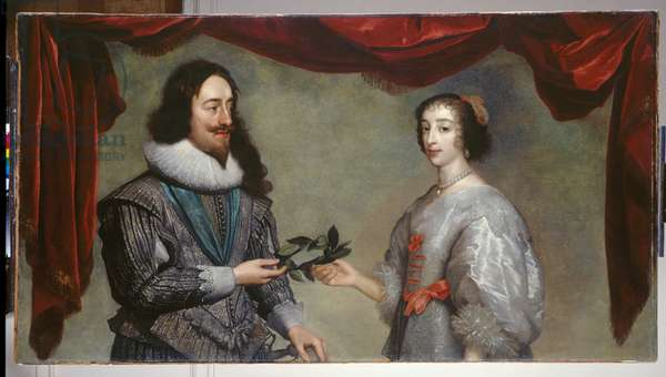 Charles I and Henrietta Maria, c.1630-32 (oil on canvas)
