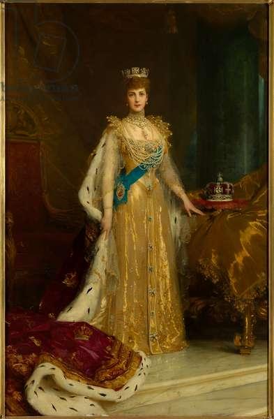 Queen Alexandra, 1905 (oil on canvas)