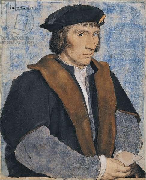Sir John Godsalve (pen & ink with chalk & gouache on paper)