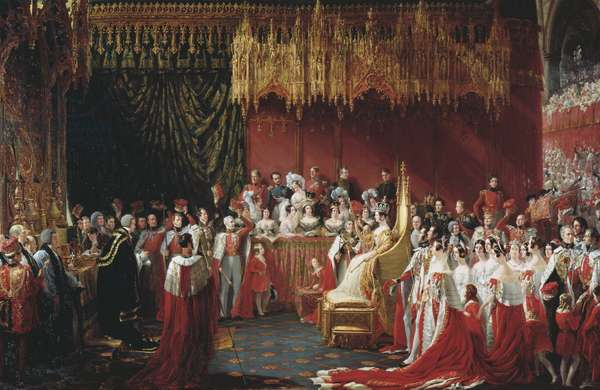 The Coronation of Queen Victoria, 28th June 1838 (oil on canvas)
