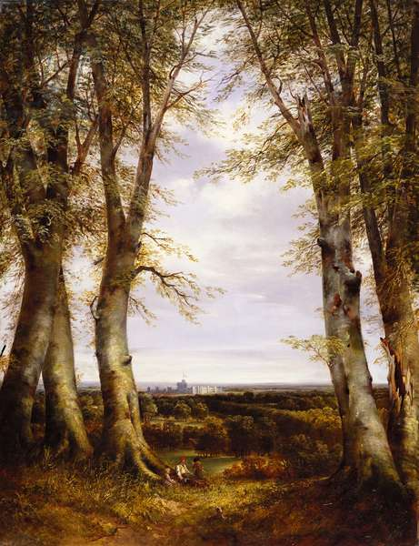 A view in Windsor Great Park, 1852 (oil on canvas)