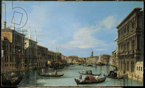 Venice: The Grand Canal from the Palazzo Vendramin-Calergi towards S. Geremia, c.1727-28 (oil on canvas)