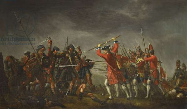 An incident in the rebellion of 1745, c.1745-50 (oil on canvas)