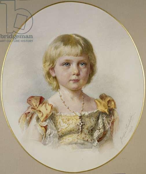Princess Victoria Eugenia of Battenberg, 1890 (w/c on paper)