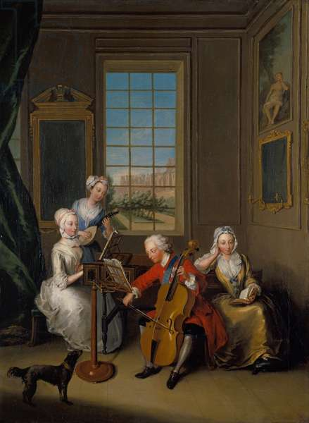 'The Music Party', Frederick, Prince of Wales, with his three eldest sisters, c.1733 (oil on canvas)