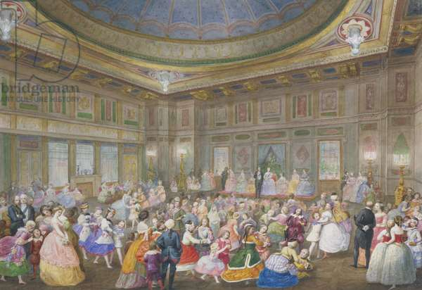 The Children's Fancy Ball at Buckingham Palace, 7 April 1859 (w/c on paper)