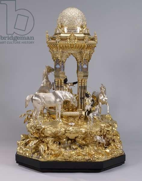 The Alhambra table fountain, 1852-53 (silver, parcel gilt, enamel)