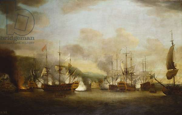 Sir Charles Knowles's Attack on Port Louis, c.1770 (oil on canvas)