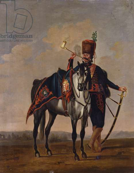 Private, Regiment of Hussars 'Karoly', c.1748 (oil on canvas)