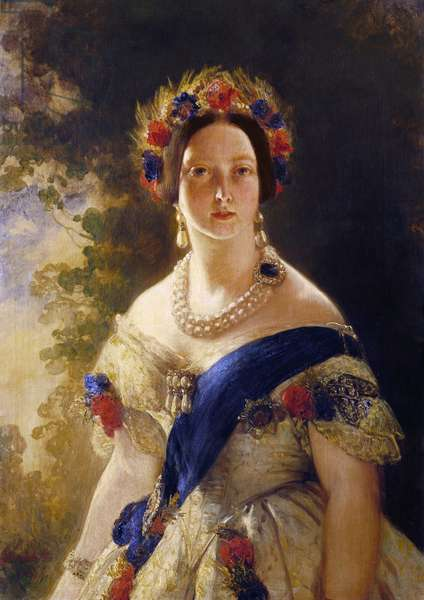 Queen Victoria, 1845 (oil on canvas)