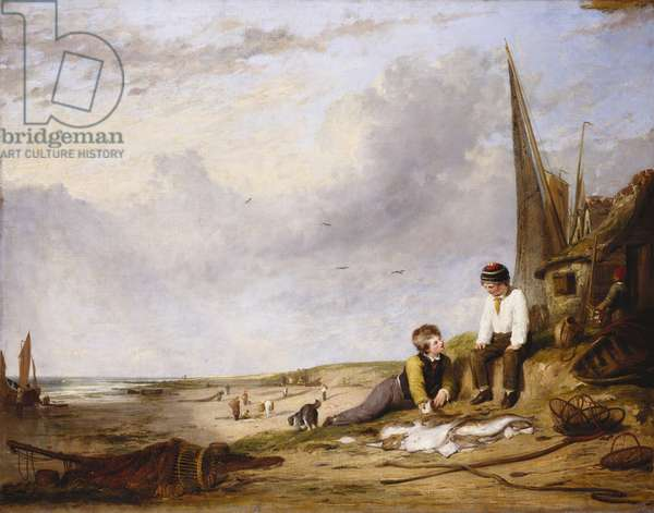 A Scene on the Coast of Norfolk, 1818 (oil on canvas)