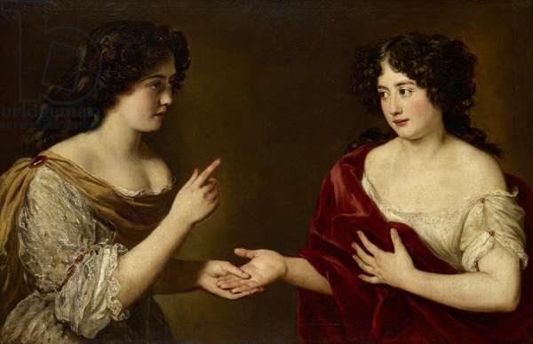 Hortense Mancini and her sister, Marie Mancini, c.1670 (oil on canvas)