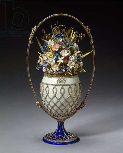 Basket of flowers egg, 1901 (mixed media)
