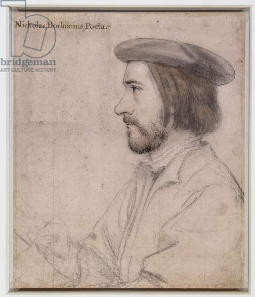 Nicholas Bourbon, 1535 (pen & in and chalk on paper)