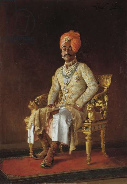 Sir Pratap Singh, 1888 (oil on canvas)