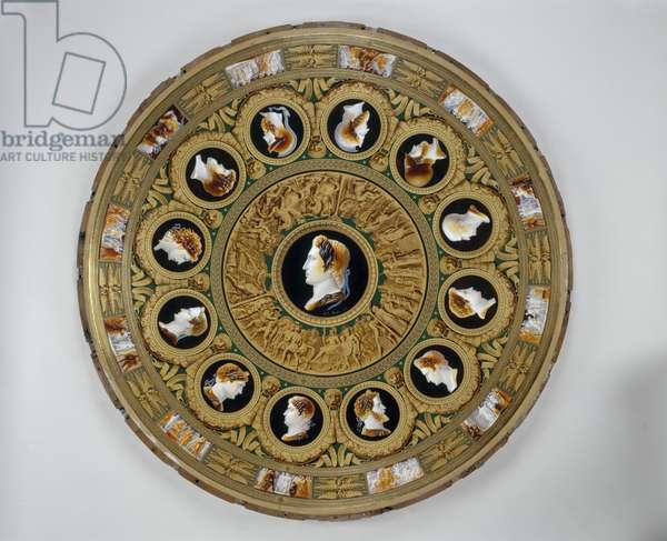 Table of the Grand Commanders, Sevres Porcelain Factory, 1812 (hard-paste porcelain, gilt-bronze mounts & wood)