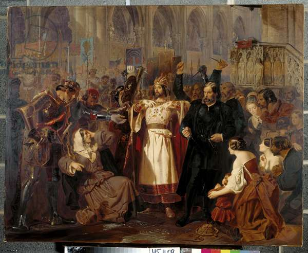 The Coronation scene from Meyerbeer's Le Prophète, 1850 (w/c on paper)
