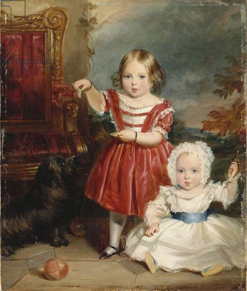 Victoria, Princess Royal and Albert Edward, Prince of Wales, 1843 (oil on canvas)