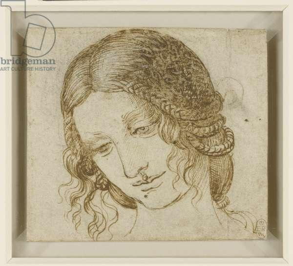 The head of Leda c.1505-06 (pen & ink over black chalk on paper)