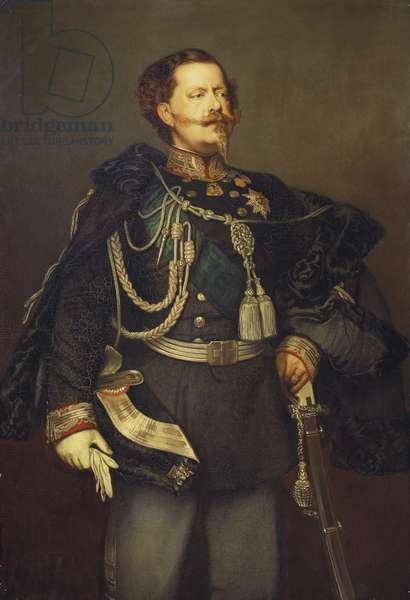 Victor Emanuel II, King of Sardinia, 1856 (oil on canvas)