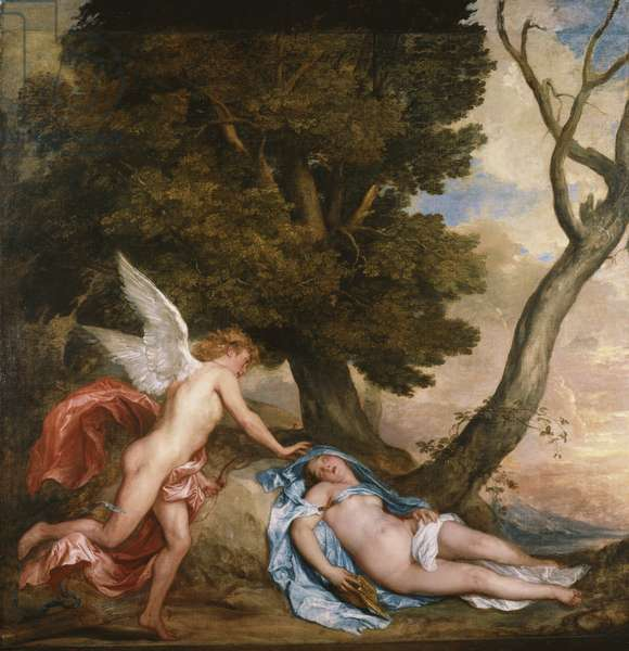 Cupid and Psyche, 1639-40 (oil on canvas)