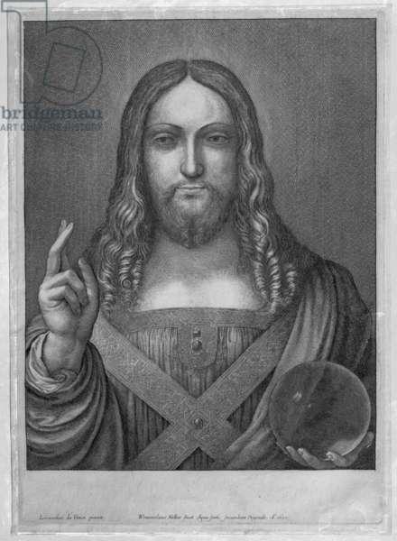 Jesus, after Leonardo, 1650 (etching)