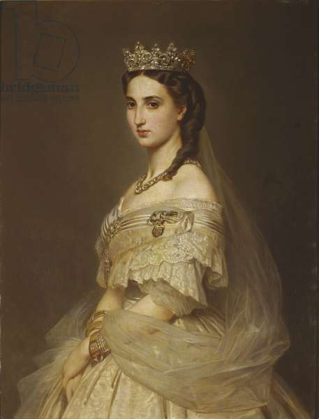 Princess Charlotte of Belgium, Empress of Mexico, 1868 (oil on canvas)