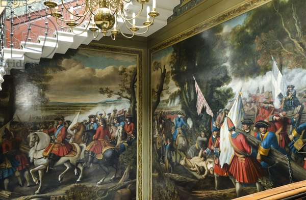 The Battle of Malplaquet, 11 September 1709: the capture of the French standards, 1713-14 (oil on plaster)