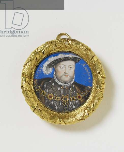 Henry VIII, c.1600 (w/c & bodycolour on vellum laid on playing card)