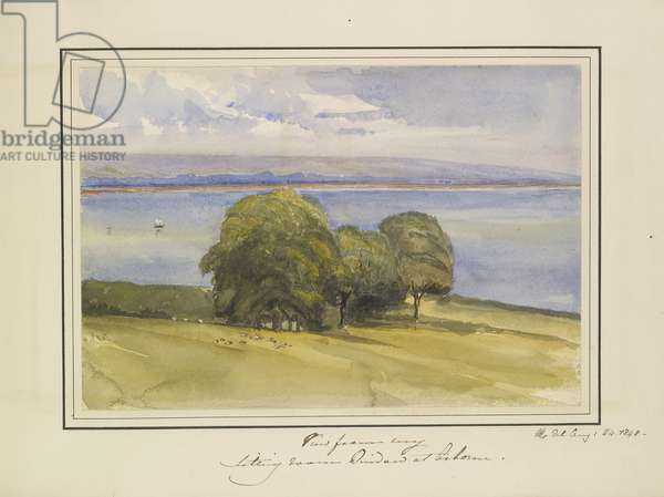 View from my Sitting Room Window at Osborne, 1848 (w/c & bodycolour on paper)
