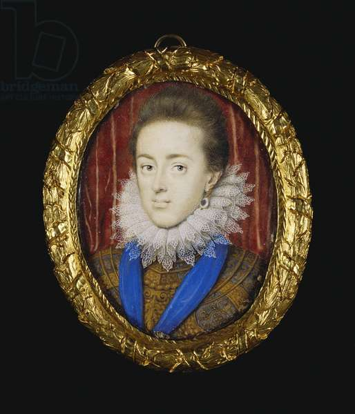 Charles I when Duke of York c.1611-16 (w/c on vellum laid down on playing card)