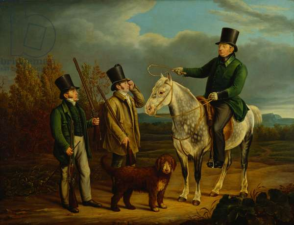 The Last Shooting Party of Frederick, Duke of York, 1827 (oil on canvas)