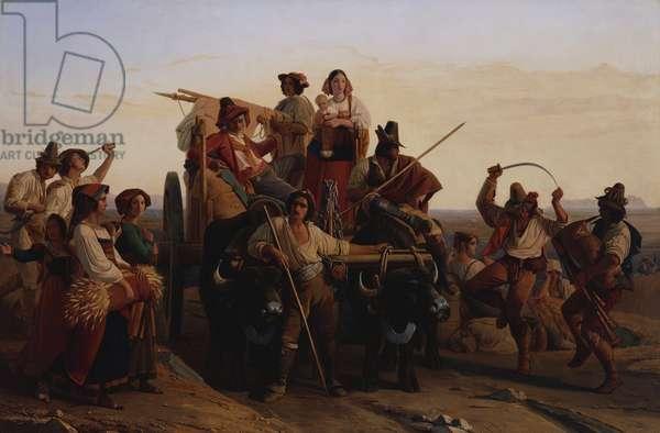 Les Moissonneurs, 1840-41 (oil on canvas)