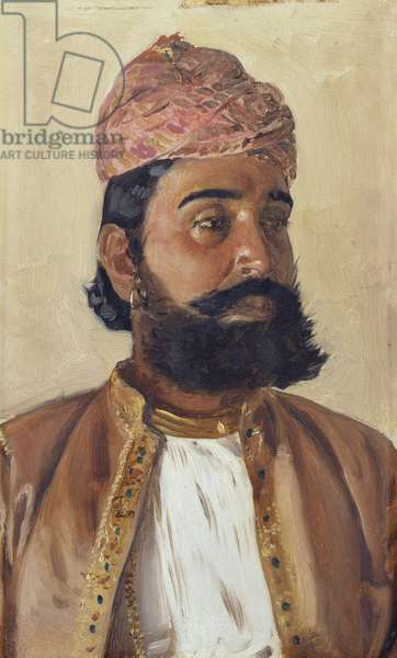 Chutter Bhuj Kula, 1888 (oil on panel)