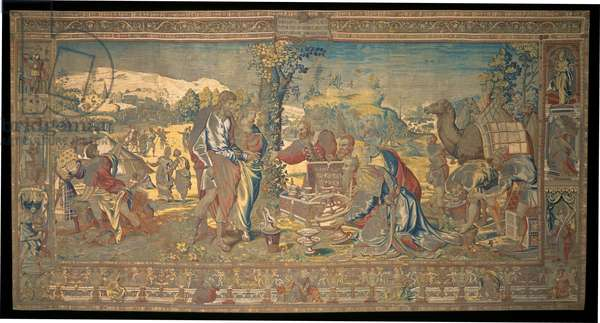 The Return of Sarah by the Egyptians, from 'The Story of Abraham Series', 1543 (wool and silk tapestry with gilt metal-wrapped thread)