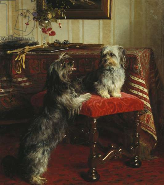 Dot and Cairnach, Skye terriers, 1874 (oil on canvas)